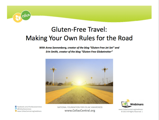 Gluten-Free Travel: Making Your Own Rules for the Road