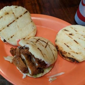 Gluten-free arepa trio
