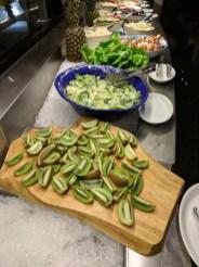 Kiwis and salads