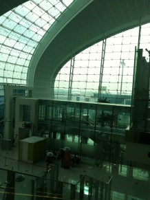 Dubai Airport, proof I was in the United Arab Emirates