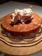 Dollop of hazelnut buttercream