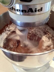 Flour + cocoa/water + flour...