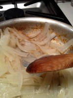 Adding a little more water as the caramelization begins