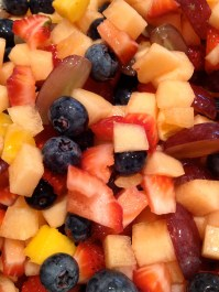 Fruit without the raspberries