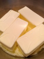It's a lot of butter, but one needs only a thin slice of cake!