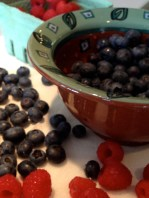 Berries washed and dried