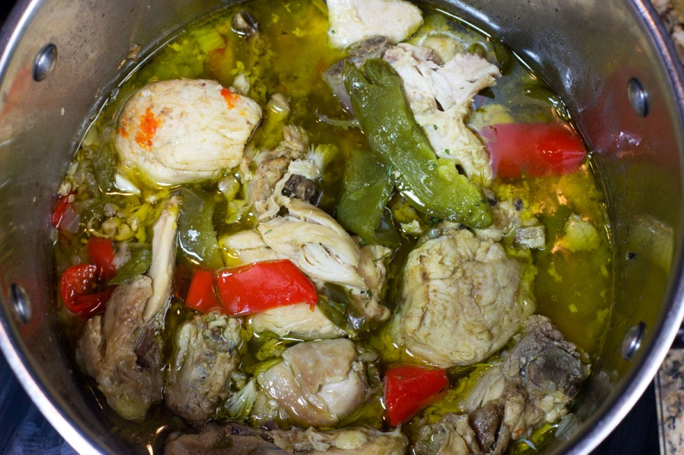 meal simmering in a pot