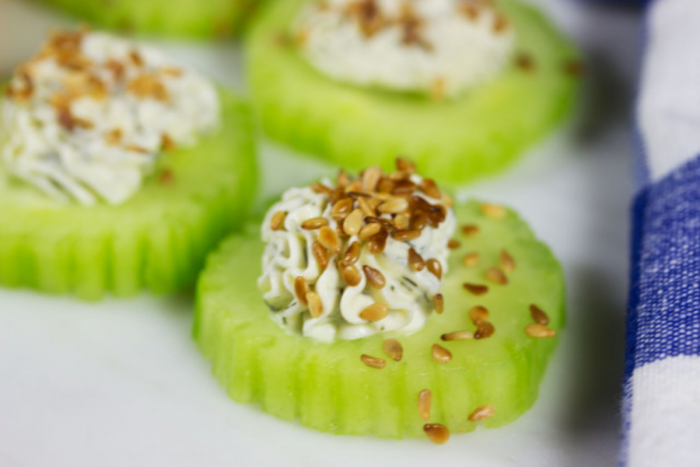 10-Minute Cucumber Bites (With Three Amazing Toppings)