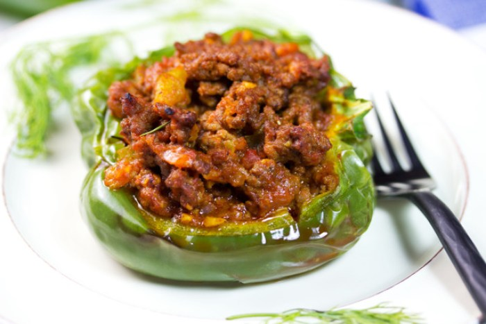 sloppy joe stuffed pepper