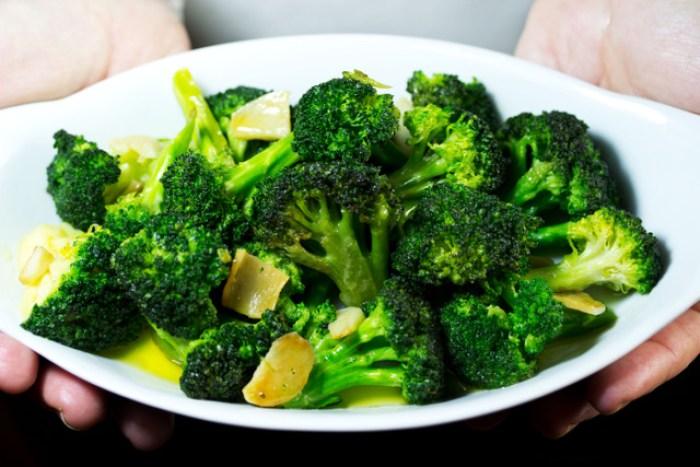 Sautéed broccoli with garlic