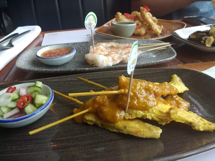 Chicken and Prawn Skewers at Chilli Banana Liverpool | Gluten Free Thai Food in Liverpool at Chilli Banana