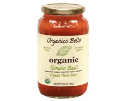 Organico Bello Organic Pasta Sauce Tomato Basil