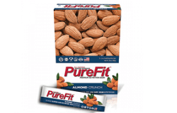 Purefit Almond Crunch Nutrition Bars, one of the best gluten free snacks to buy