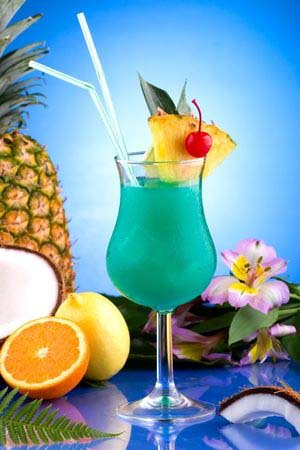 Gluten Free Blue Hawaiian Cocktails and Drinks