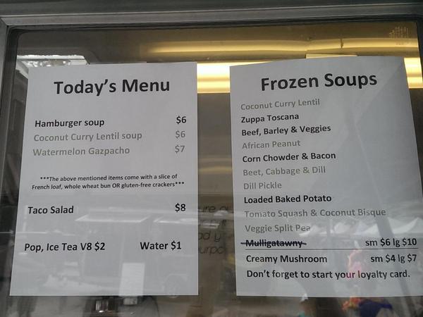 Soup Simply- Menu