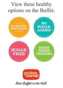 An image of Golden Corral's digital Healthy Plate menu