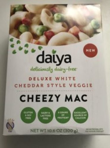 A picture of a box of Daiya Cheezy Mac.