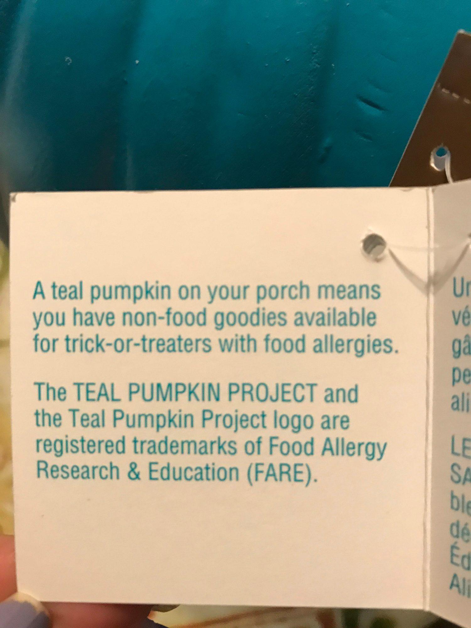Teal Pumpkin Project helps spread awareness about non-allergen Halloween goodies.