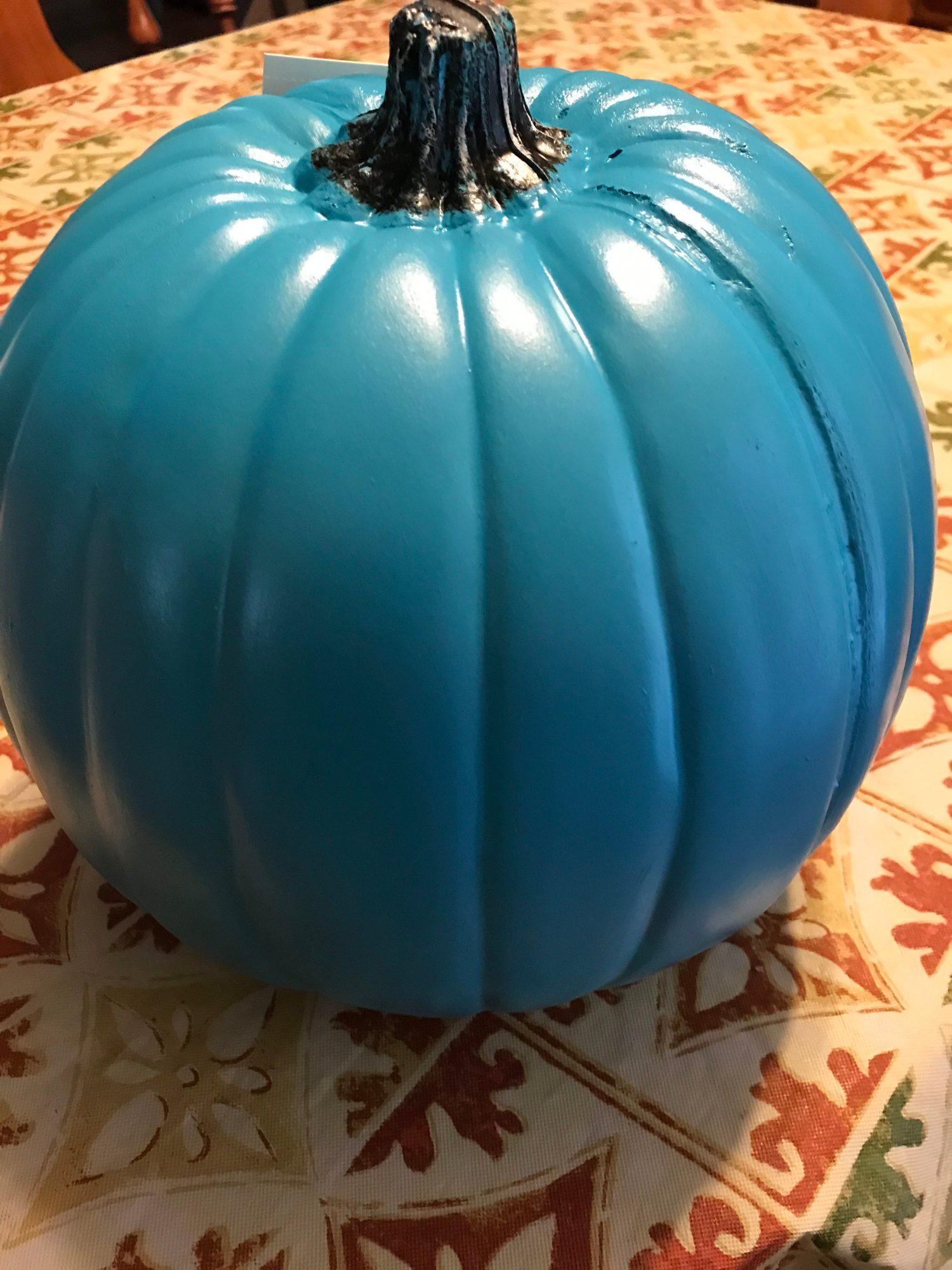 Teal pumpkin signifies allergen-free treats