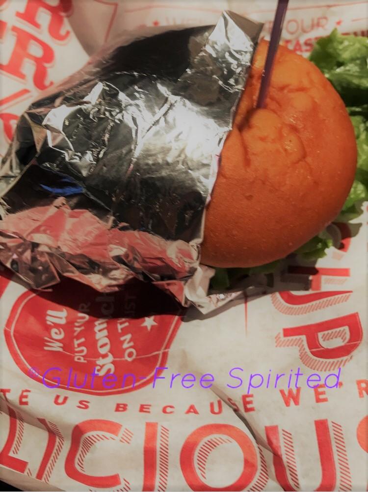 Red Robin has gluten-free buns.