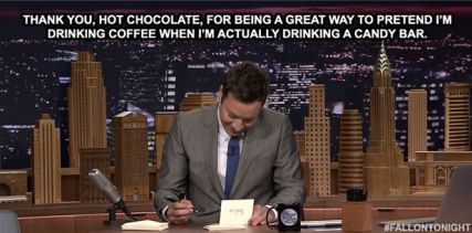 Jimmy Fallon meme about hot chocolate