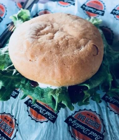 Bad Daddy's burger with gluten-free bun
