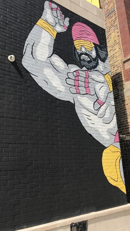 Macho Man mural
