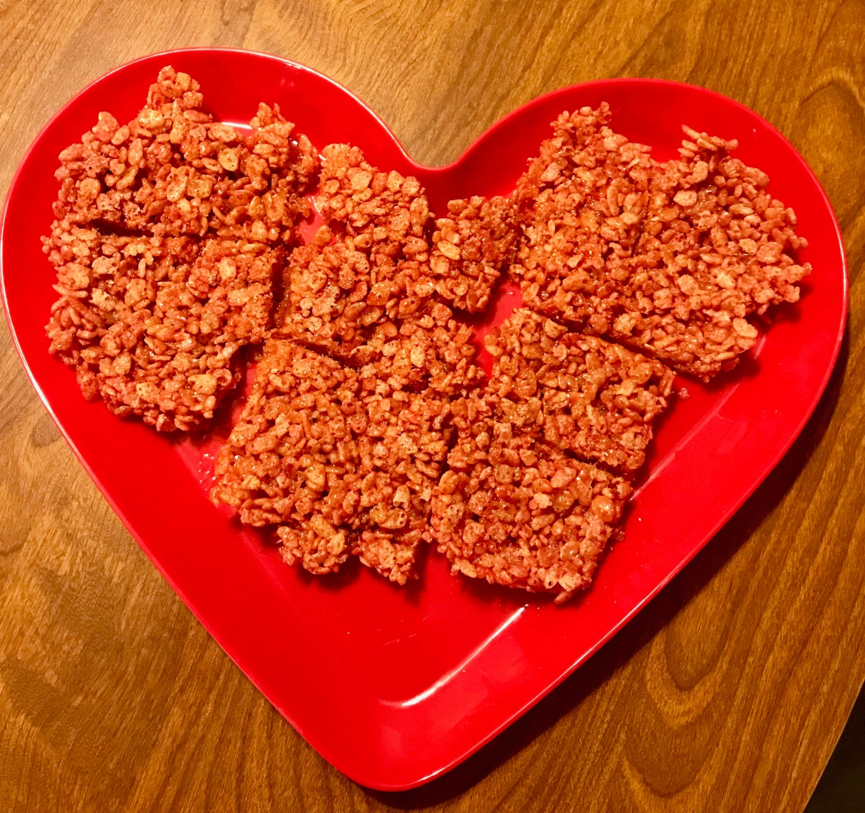 Rice Krispies cut into squares