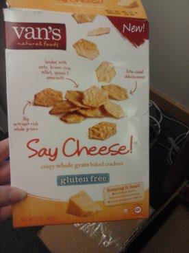 Van's Say Cheese GF crackers
