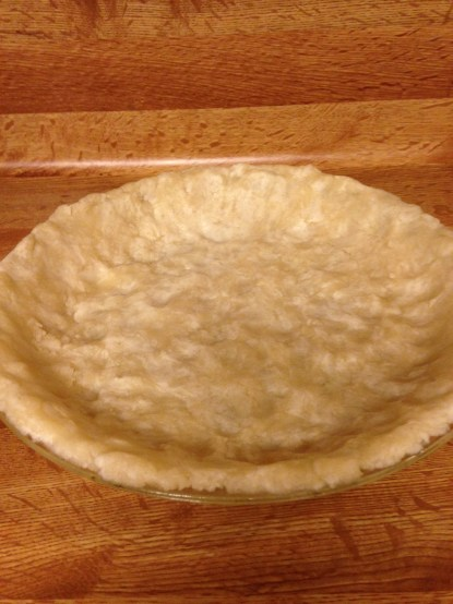 Pie shell before adding filling.