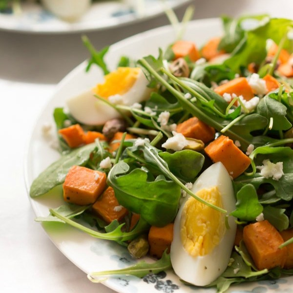 GF sweet potatoe arugula salad