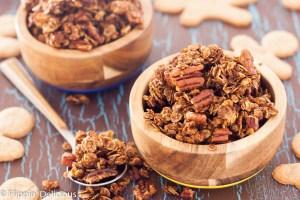 gluten free gingersnap granola recipe