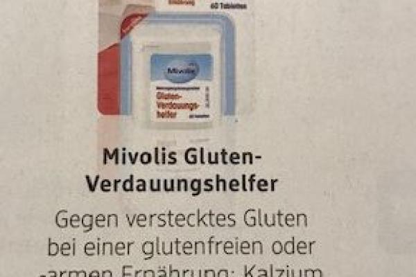 Stellungnahme der DZG zu dem Präparat Mivolis Gluten-Verdauungshelfer