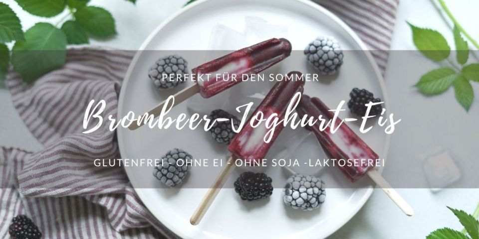 Rezept: Brombeer-Joghurt-Popsicles