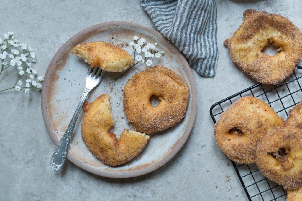 Glutenfreie Apfelküchle schmecken auch pur super gut!