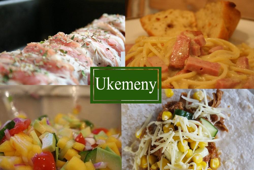 ukemeny med pasta og indrefilet