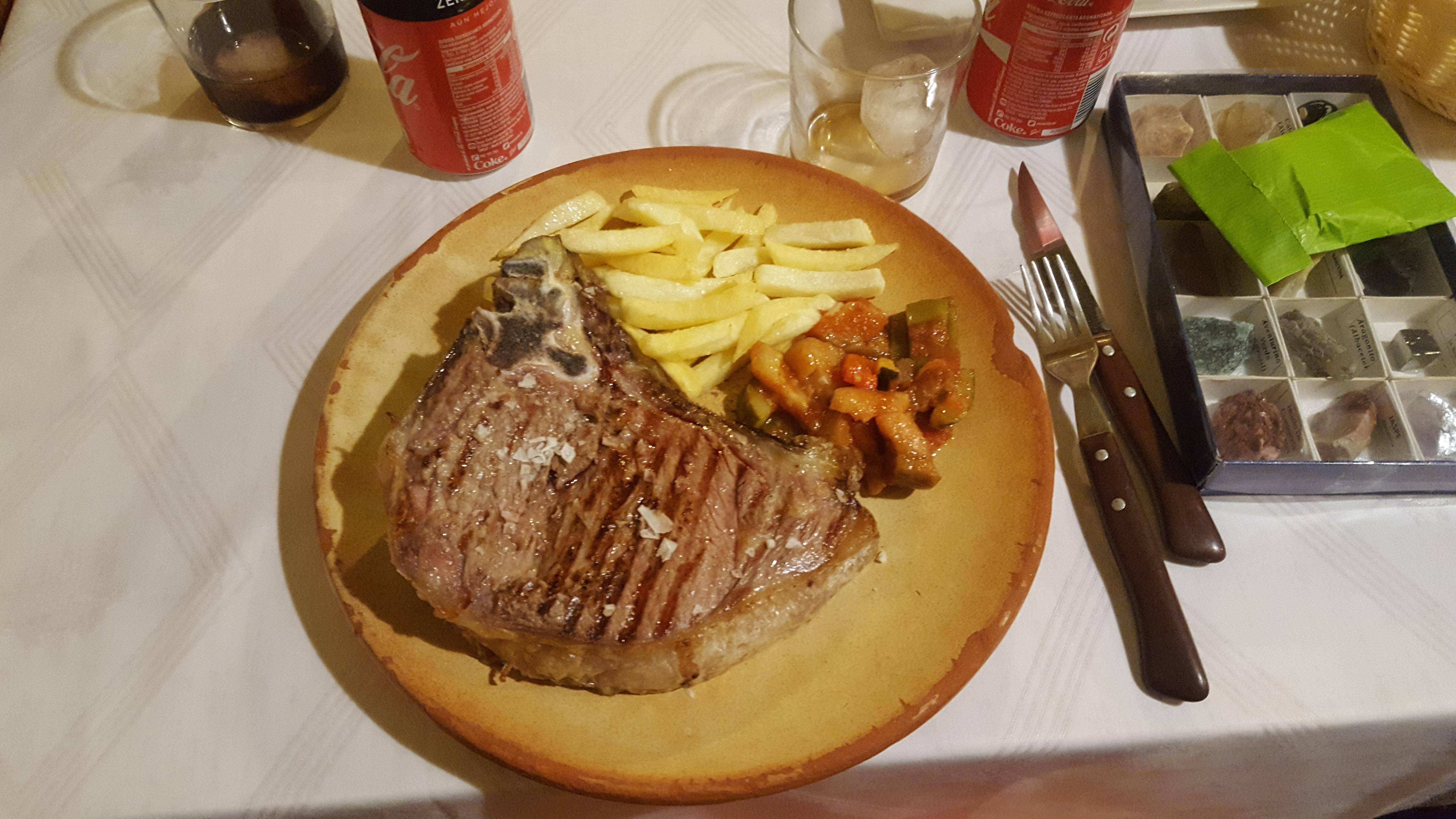 I Bushot fikk jeg magisk kjøtt - ikke noe smykke av et bilde, men kjøttet - DET var godt!