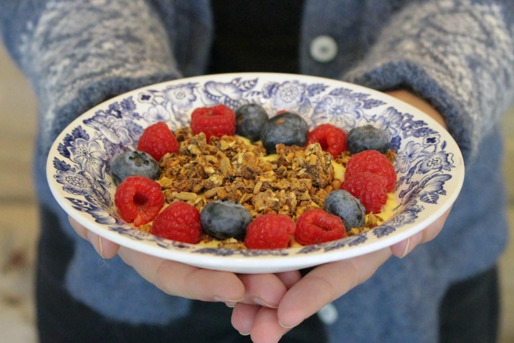 Yoghurt med granola kolonihagen 030