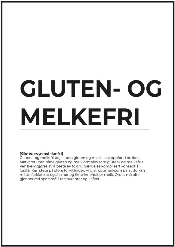 SITATPLAKAT - gluten- og melkefri liten