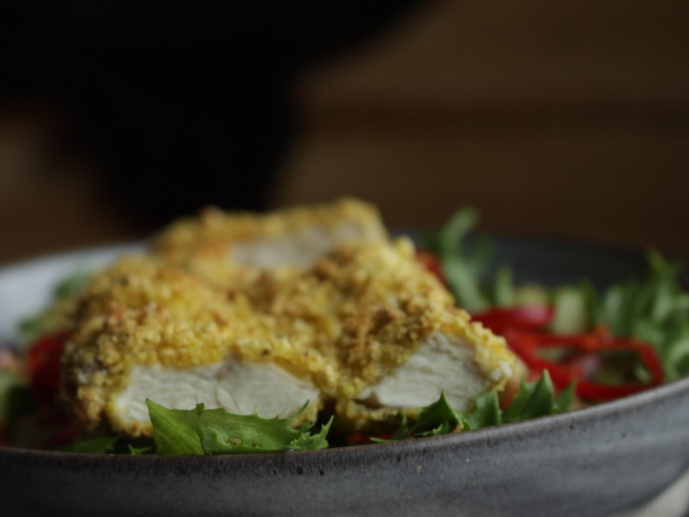 Helsprø kyllingsalat