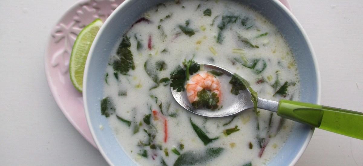 Gluten-free recipe: Thai prawn & coconut soup