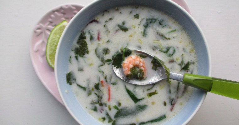Gluten-free recipe: Thai prawn & coconut soup
