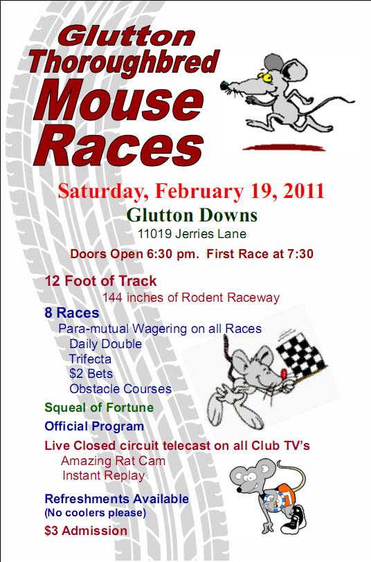 Mouse Races Flyer Feb 2011