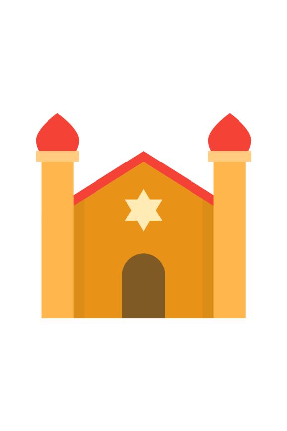 Animation of Jewish synagogue