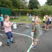 Water fun in Nursery