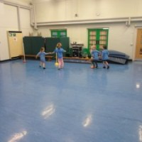 Year 1NS join Year 3AT for a fab PE lesson