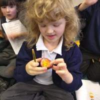 Year 1 enjoy tasting exotic fruits