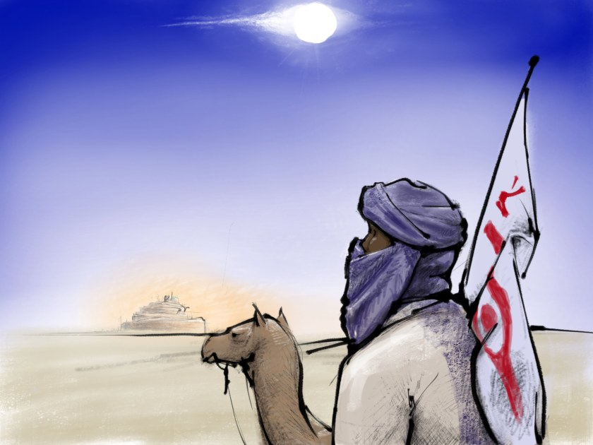 The traveler's route through the eastern desert is frequented by fools and namedealers. The traveler's not sure which he is, exactly.