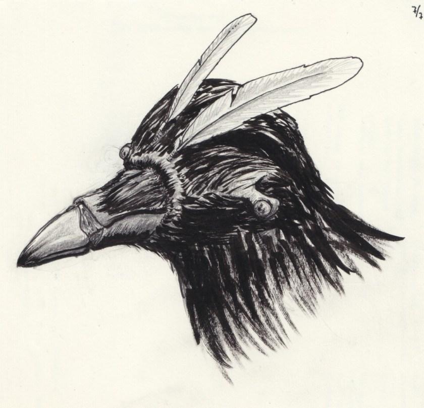 Corvosapien Head Feathers