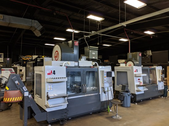 HAAS VF4 and VF3